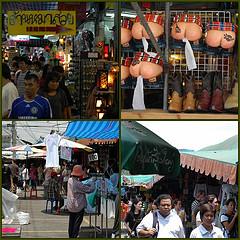 Op de markten in Bangkok heerst een gezellige en aangename sfeer.