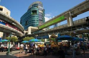 Siam Square ligt in het centrum van Bangkok.