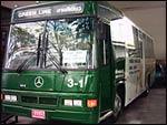 Elke route van de Pattaya Beach bus heeft zijn eigen kleur.