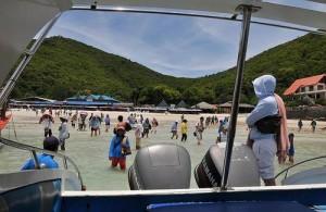 Vanaf het strand in Pattaya kun je een boottocht naar de nabijgelegen eilanden.
