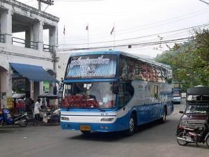 Bussen vanuit Bangkok eindigen hun reis op de Phuket Bus Terminal te Phuket town.