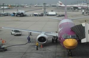 Budget vliegmaatschappij Nok Air vliegt in Bangkok vanaf vliegveld Don Muang.