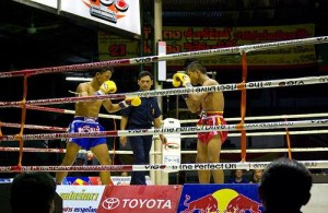 Muay Thai Boxing is een nationale sport in Thailand.