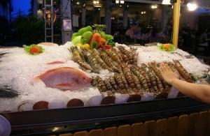 Op de Chat Chai markt wordt de vis dagelijks vers aangevoerd.