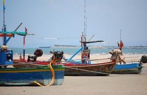 De vis wordt in Hua Hin dagelijks vers aangevoerd.