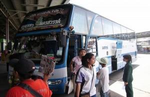Vanaf Mo Chit vertrekken de bussen naar het noorden en noordoosten van Thailand.