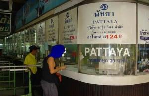 Bussen naar Pattaya vertrekken vanaf de Eastern Bus Terminal (Ekamai).