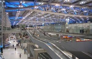 Vliegveld Suvarnabhumi wordt ook wel het nieuwe vliegveld van Bangkok genoemd.