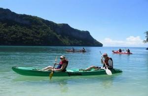 Het Ang Thong National Marine Park is een perfecte kajaklocatie.