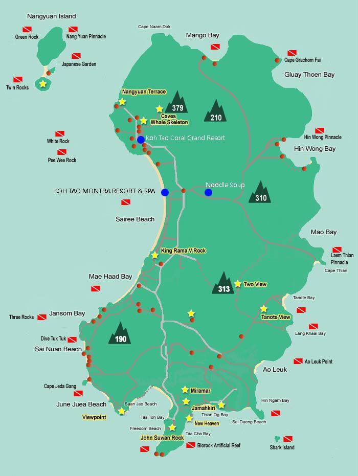 Koh Tao wordt ook wel 'Turtle Island' genoemd.