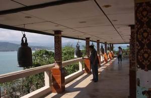 Vanaf de tempel heb je een mooi uitzicht over naaste omgeving.