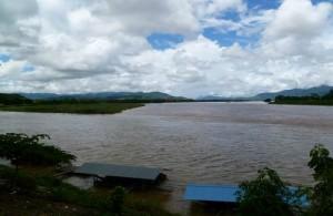Bij Sop Ruak vloeien de rivieren de Nam Ruak en de Mekong in elkaar over.