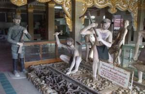 Het JEATH museum in Kanchanaburi is een interessante bezienswaardigheid.
