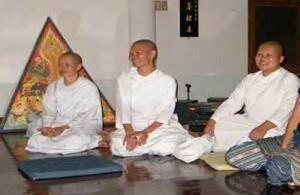 Een Mae Chiis houdt het midden tussen een gewone volgeling en een geweide monnik.