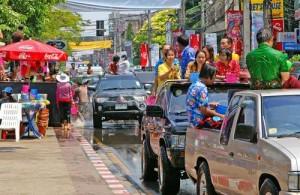Het Songkran feest wordt het meest uitbundig gevierd in Chiang Mai.