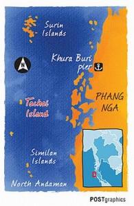 Koh Tachai is vanaf het vasteland in Phang Nga per speedboot makkelijk te bereiken.