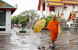 Meestal regent het tijdens het regenseizoen voor een uur in de middag, terwijl de rest van de dag warm en zonnig is.