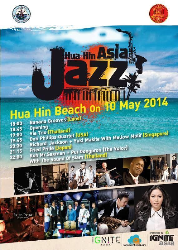 Programma Hua Hin Asia Jazz 2014.