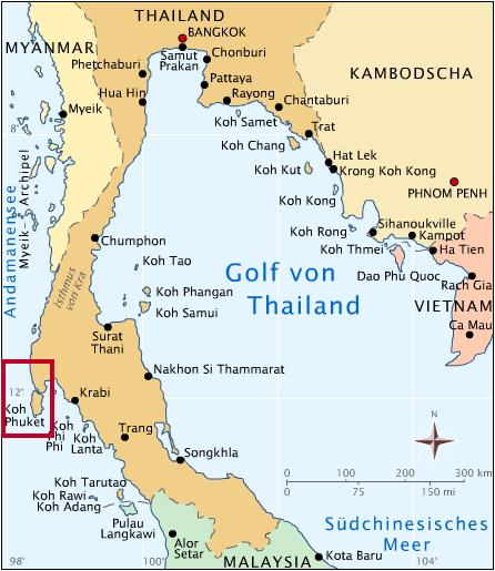 Phuket is het grootste eiland van Thailand en is gelegen in de Andaman Zee.
