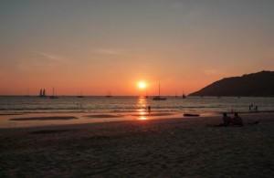 Je kunt hier getuige zijn van een prachtige zonsondergang.