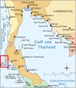 Phuket ligt in de Andamanse zee en wordt omringd door vele eilandjes.