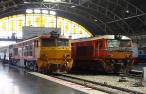 Hua Lamphong Railway Station (Centraal Station) Bangkok.