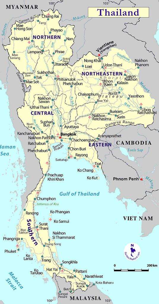 Informatie Over De Regio S Van Thailand Thailand Totaal